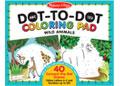 M&D – ABC 123 Dot-to-Dot Colouring Pad – Wild Animals