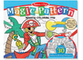 M&D – Magic-Pattern Marker Colouring Pad – Blue