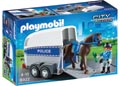 Playmobil – Police with Horse and Trailer