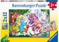 Ravensburger - Unicorns at Play 2x12 pieces