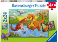 Ravensburger - Dinosaurs at play 2x24 pieces