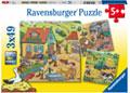 Ravensburger - On the Farm 3x49 pieces
