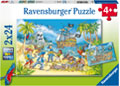Ravensburger - Adventure Island Puzzle 2x24pc