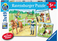 Ravensburger - A Day at the Stables Puzzle 3x49pc