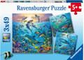 Ravensburger - Ocean Life Puzzle 3x49pc