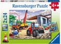 Ravensburger - Construction & Cars Puzzle 2x24pc