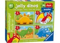 Ravensburger - Jolly Dinos My First Puzzle 2 3 4 5 pieces