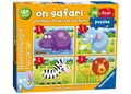 Ravensburger – On Safari My First Puzzle 2, 3, 4 & 5pc