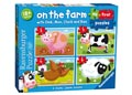 Ravensburger - On the Farm My First Puzzle 2 3 4 5pc