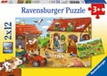 Ravensburger - Working on the Farm Puzzle 2x12 pieces