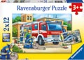 Ravensburger - Police and Firefighters Puzzle 2x12 pieces