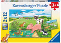 Ravensburger - Baby Farm Animals Puzzle 2x12 pieces