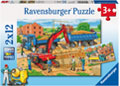 Ravensburger - Busy Construction Site 2x12pc Puzzle