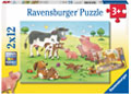 Ravensburger - Animal's Children Puzzle 2x12 pieces