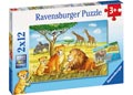 Ravensburger - Elephants Lions Company Puzz 2x12pc