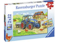 Ravensburger - Hard at Work Puzzle 2x12pc