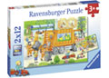 Ravensburger - Street Cleaning Underway Puzzle 2x12 pieces