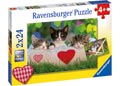 Ravensburger - Sleepy Kittens Puzzle 2x24pc
