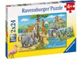 Ravensburger - Welcome to the Zoo Puzzle 2x24 pieces