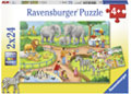 Ravensburger - A Day at the Zoo Puzzle 2x24 pieces