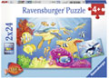 Ravensburger - Colorful Underwater World Puzzle 2x24pc