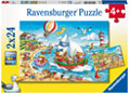 Ravensburger - Seaside Holiday Puzzle 2x24p