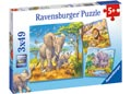 Ravensburger - Wild Animals Puzzle 3x49pc