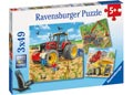 Giant Vehicles Puzzle 3x49pc