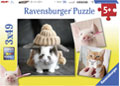 Ravensburger - Funny Animal Portraits Puzzle 3x49 pieces