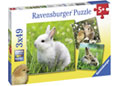 Ravensburger - Cute Bunnies Puzzle 3x49pc
