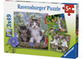 Ravensburger - Kittens Puzzle 3x49 pieces