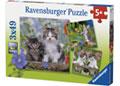 Ravensburger - Kittens Puzzle 3x49 pieces