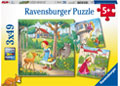 Ravensburger - Rapunzel, Riding Hood and Frog 3x49pc