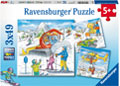 Ravensburger - Let's Go Skiing! Puzzle 3x49pc