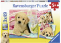 Ravensburger - Cute Puppy Dogs Puzzle 3x49pc