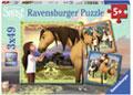 Ravensburger - Spirit Adventure on Horses 3x49pc