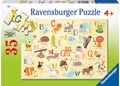 Ravensburger - A-Z Animals Puzzle 35 pieces