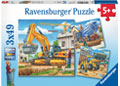 Construction Vehicle 3x49pc Puzzle