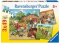 A Day with Horses Puzzle 3x49pc