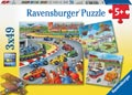 Ravensburger - Moving Vehicles Puzzle 3x49pc