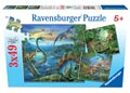 Ravensburger - Dinosaur Fascination Puzzle 3x49 pieces