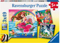 Ravensburger - Mythical Creatures 3x49pc Puzzle