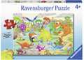 Rburg - Time Traveling Dinos Puzzle 60pc