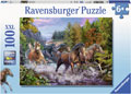 Ravensburger - Rushing River Horses Puzzle 100 pieces