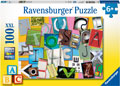 Ravensburger - Funny Alphabet Puzzle 100pc
