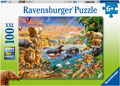 Ravensburger - Savannah Jungle Waterhole 100 pieces