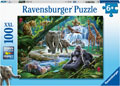 Ravensburger - Jungle Animals Puzzle 100pc
