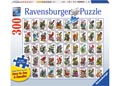 50 Bird Stamps Large Format Puzzle 300pc