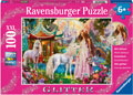 Ravensburger Princess with Unicorn Puzzle GLITTER 100 pieces