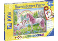 Ravensburger - Magical Unicorns Puzzle COLOUR BK 100 pieces
